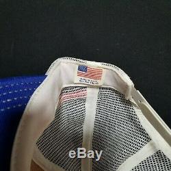 Vtg Nos 3 Stripe Pepsi-cola Camionneur Mesh Snapback Excellent État USA