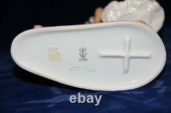 Wallendorf Porcelaine Femme Dame Avec Cerf Excellent État