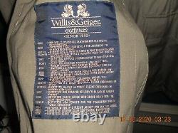 Willis & Geiger Veste Safari D'origine Hemingway Belle, Excellent État