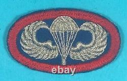 Ww 2, Us 505th Parachute Infantry Regiment Bullion Oval, Excellent État, #1