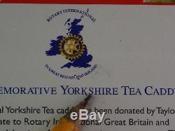 Yorkshire Tea Tin Rotary Club 2000 Excellente Occasion Etat Propre Très Rare Tin